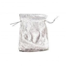 Bag gifts silver-plated fabric 50 pieces average size 9x12 SACM009