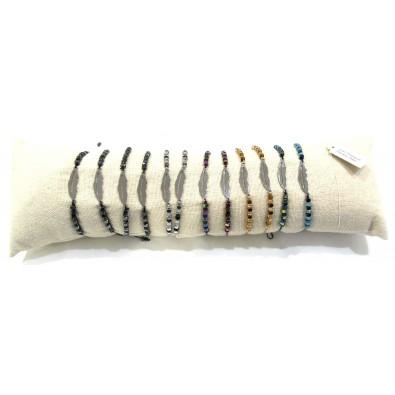 Lot de 12 bracelets acier chirurgical BRAF147
