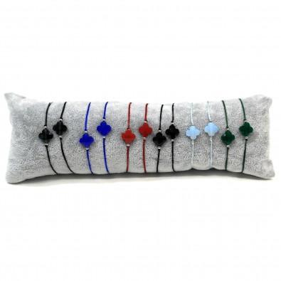 Lot de 12 bracelets en cordon LOBR011