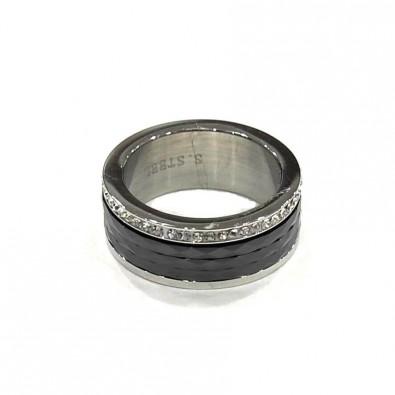 Bague Céramique acier BAC034NO
