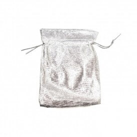 Bag gifts silver-plated fabric 50 pieces small size 7x9 cm SACP008