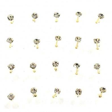 Piercing de nez argent 325  PR007DG (20pcs)