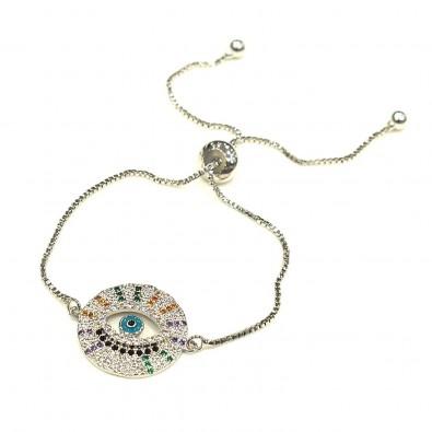 Bracelet BRAF567 plaqué or argent oeil rond
