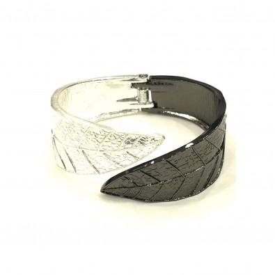 Bracelet manchette feuille double couleur MAAD260 feuille bicolore