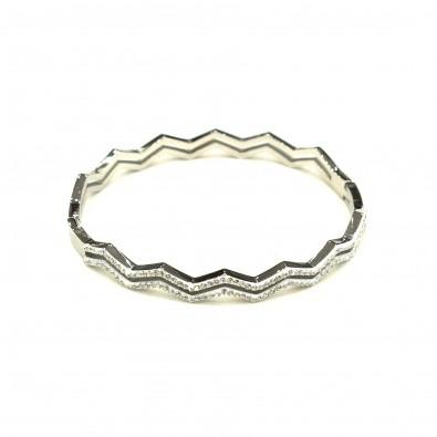 Bracelet acier chirurgical BRAF582 zigzag stasse