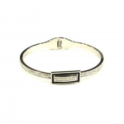 Bracelet acier chirurgical BRAF583 boucle noir