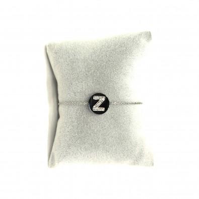 Collier acier lettre initiale COAC342 lettre Z