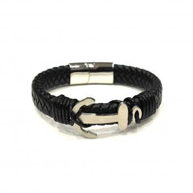 Bracelet acier et cuir homme BRAH277