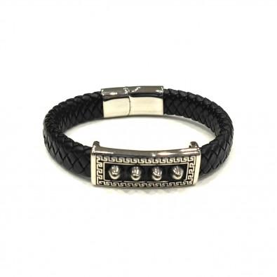 Bracelet acier et cuir homme BRAH280