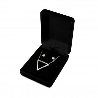 Coffret bijoux triangle et boucles d'oreilles COF009