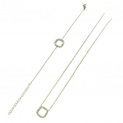 Parure acier inoxydable carré PAC008