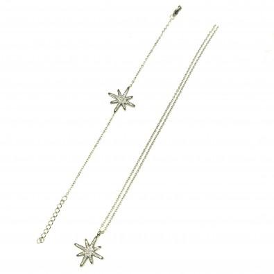 Parure acier inoxydable étoile PAC011