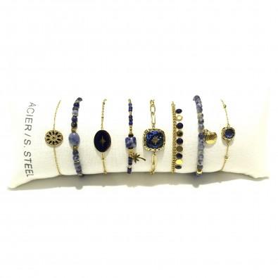 Lot de 8 bracelets acier assortis LB011