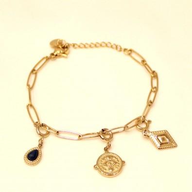 Bracelet acier inoxydable femme BRAF776