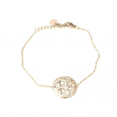 Bracelet acier signe astrologie balance BRAF786