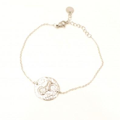 Bracelet acier signe astrologie bélier BRAF788