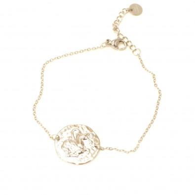 Bracelet acier signe astrologie lion BRAF792