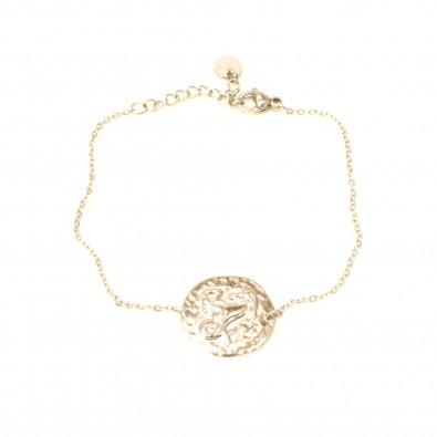 Bracelet acier signe astrologie capricorne BRAF797