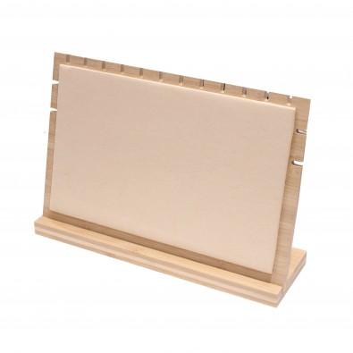 Présentoir pour colliers en bois 33x9.5x22cm PRES087