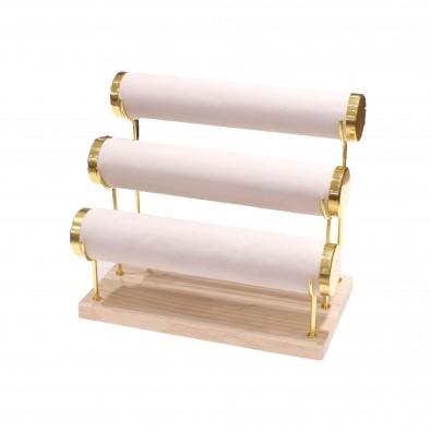 Présentoir pour bracelets en bois 3 étages 15.5x27.5x24cm PRES090
