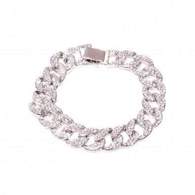 Bracelet avec strasse en métal homme BRAH468