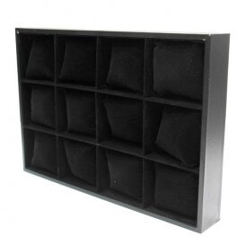 Display stand for bracelets 12 boxes cushions black PRES011