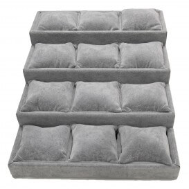 Display stand for bracelet 12 rewinding cushions grey PRES019