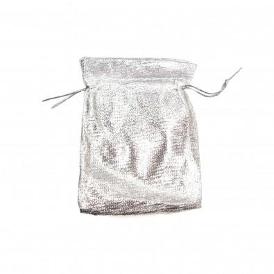 Sachet cadeaux argent doré en tissu 50 pièces moyenne taille 9x12 SACM009